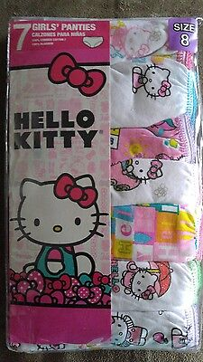 NEW Girls Hello Kitty Panties Underwear Cotton Undies Briefs Size 8 Multi Color
