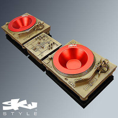 Deck-Tray MKII Sculpture Set - GOLD - Technics Turntable DJ Inspired Sculpture
