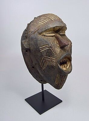 A Very Rare Bobo Fing African Mask on professional display stand.