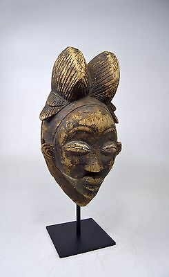 A Rare Black Punu Judgement mask,  African Tribal Art.