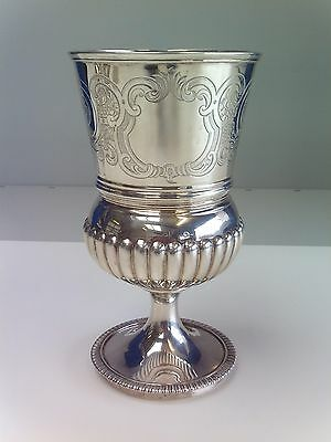 Georgian solid silver tankard/goblet London 1806 Hennell