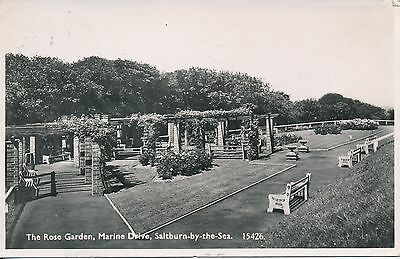 PC87015 The Rose Garden. Marine Drive. Saltburn by the Sea. Salmon. No 15426. RP