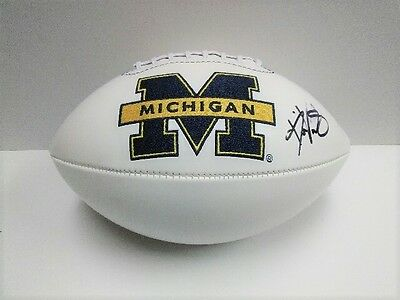 DEVEON SMITH Michigan Wolverines SIGNED Logo Football