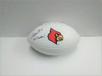 JAMARI STAPLES Louisville Cardinals SIGNED Logo Football