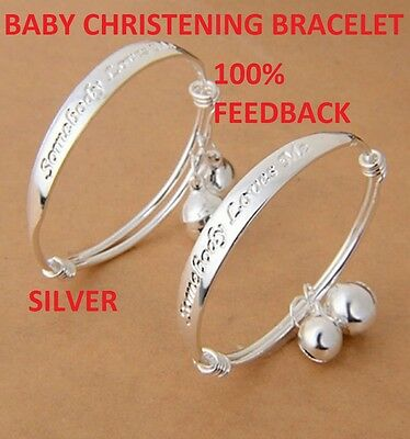 BABY SILVER CHRISTENING BANGLE BRACELE  LOVES ME BANGLE  Birthday gift BOY GIRL