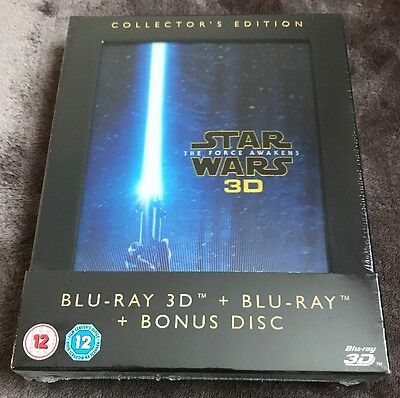 Star Wars The Force Awakens Collectors Edition 3D Blu-Ray New & Sealed