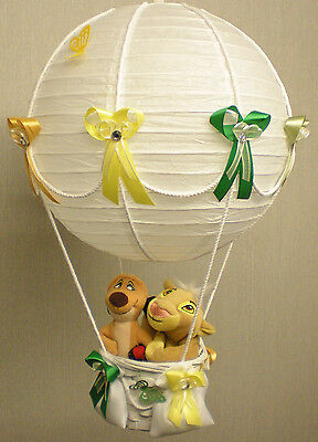 BABY LION KING in hot Air Balloon Lamp Shade for Baby Nursery