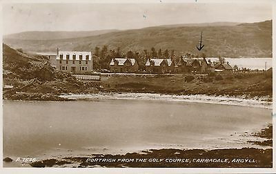 PC86190 Portrigh from the Golf Course. Carradale. Argyll. Valentine. No A.7538.