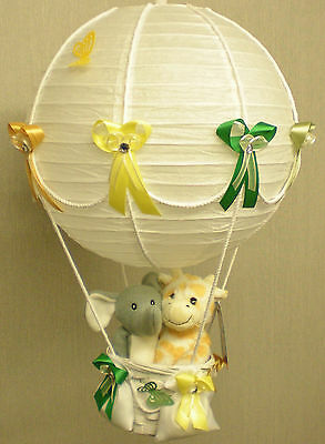 FRIENDS FROM JUNGLE in hot Air Balloon Lamp Shade for Baby Nursery