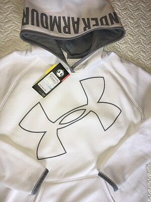 UNDER ARMOUR Youth Girls Hoodie, White, Sz XL (14), NWT $44.99