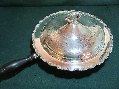Vintage Oneida Silver Plated Chafing Dish In Georgian Scroll Wm.a.rogers