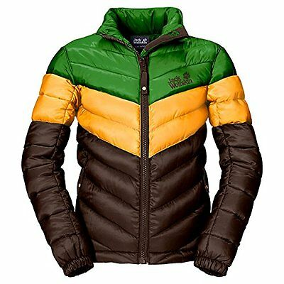 Jack Wolfskin, Giacca Bambino Icecamp, Marrone (Olive Brown), 92 cm (h2H)