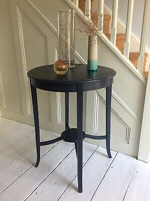 Lovely vintage chalk painted occasional table dark blue