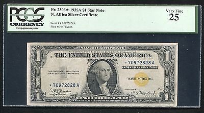 "Fr. 2306* 1935-A $1 *star* ""North Africa"" Silver Certificate Pcgs Very Fine-25"