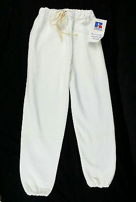 Vintage Youth Russell Athletic Sweatpants Medium White NWT NOS