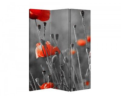 Double Sided Canvas Dressing Screen Room Divider 04896 All Sizes