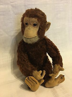 STF18 * Vintage Yes No Schuco Tricky Ape Monkey 1950s Mechanical Toy medium