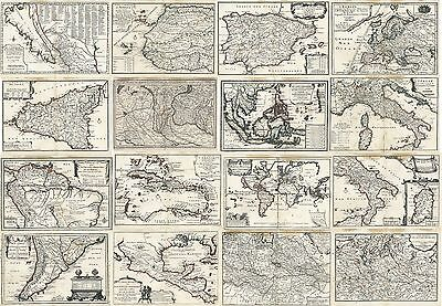 18 Old Maps Of America Europe Asia And Africa - Atlas 1700 - 1702 Nicolas De Fer