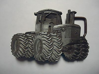 Vintage John Deere Tractor 8440 4-wheel Drive BELT BUCKLE Gray Pewter 1980 4WD