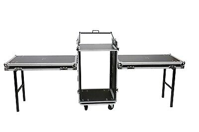 OSP 16 Space Amp + 10U Mixer Top DJ Tour ATA Flight Rack Road Case 2 Lid Tables