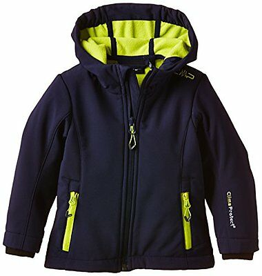 CMP - Flli. Campagnolo, Giacca softshell Bambina, Blu (Navy-Lime), 152 cm (T0b)