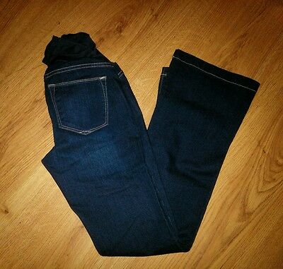 NWT New Gap Maternity Long and Lean Women's Full Panel Dark Jeans Size 25/0R 0