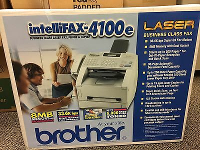 Brother IntelliFax-4100E High Speed Business-Class Laser Fax, Printer & Copier