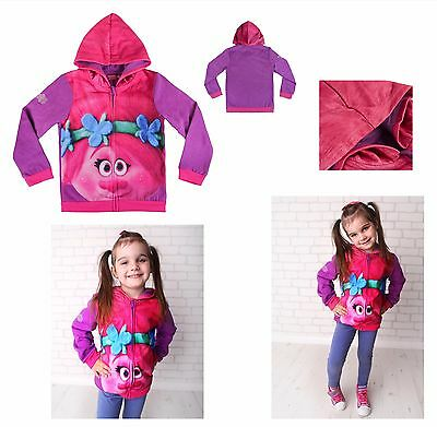 Trolls Hoodie for children 6-13 years old. Official,Licensed Product UK Stock