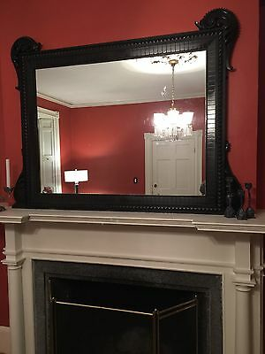 Dazzling Victorian mantle mirror available from historic Salem house.