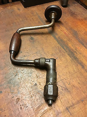 Old Woodwork tool Antique John S Fray Co  No 102 Hand Brace