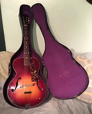 Vintage 1939 Custom Made 6-String Archtop Acoustic Guitar W/ Case