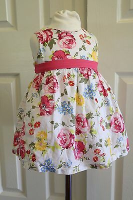 Children's Place Baby Girls Spring Easter Summer Floral Dress Sz 9-12 Mos.