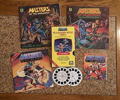 Vintage Lot~ Masters of the Universe~ Golden Books, VHS, Viewmaster reels