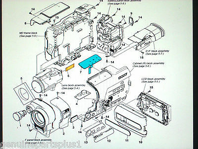 GENUINE  PARTS FOR  SONY DCR-TRV250 from $5-$35