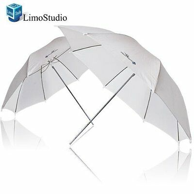 "LimoStudio 2x 33"" Studio Lighting Umbrellas Translucent White soft Umbrella,"