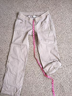 Womens Old Navy Maternity Tan Low Rise Waist Roll Up Pant Size M
