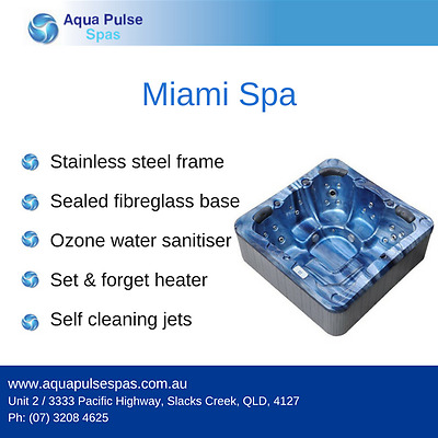 Miami Plug & Play 5 Seater Portable Indoor Outdoor Spa Pool / Hot Tub Jacuzzi