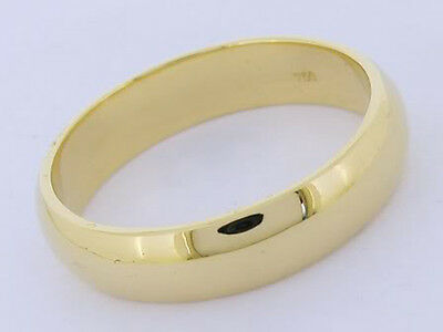 R093- Classic Heavy Genuine 9ct SOLID Yellow Gold 5mm Wedding Band Ring size 10