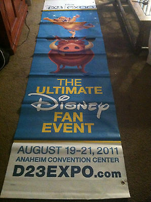 Disney D23 Expo Lion King Vinyl Street Banner AUTHENTIC & EXTREMELY RARE