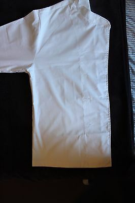 2 Chef Jackets 2XL Wrap-Over White Long Sleeve Jacket