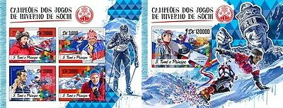 Z08 ST16511ab Sao Tome and Principe 2016 Sochi Winter Games MNH Set