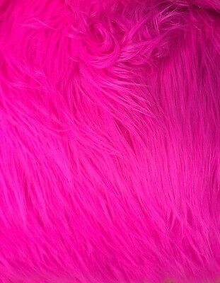 """Hot Pink Mongolian  Faux Fur Props Newborn Photography Blanket 18""""x20"""" inches"""