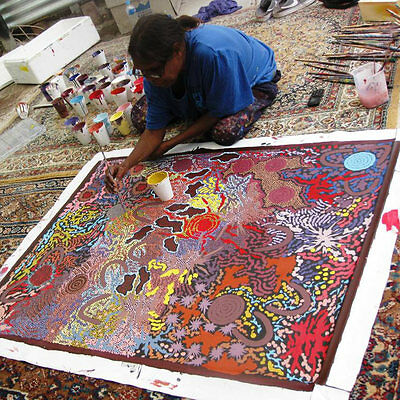 ABORIGINAL ART PAINTING by GABRIELLA POSSUM 'MY GRANDMOTHERs COUNTRY' Authentic