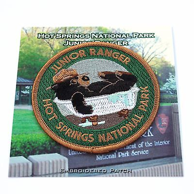 Official Hot Springs National Park Junior JR Ranger Souvenir Patch Arkansas