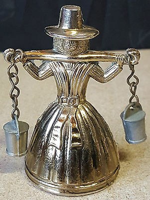 """VINTAGE """"SOLID BRASS SMALL ENGLISH LADY BELL """"  7cm"""