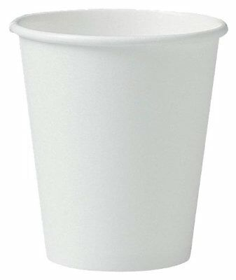 SOLO 376W-2050 Single-Sided Poly Paper Hot Cup 6 oz. Capacity White Case of 1000