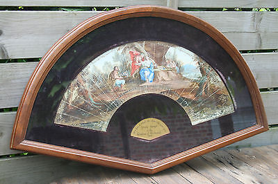 Antique museum piece British Framed Ball Fan part of duchess of portsmouth