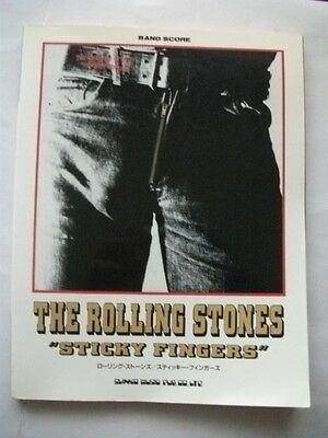 THE ROLLING STONES STICKY FINGERS JAPAN BAND SCORE GUITAR TAB / Keith Richards