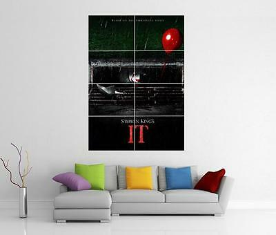 It Movie 2017 Stephen King Pennywise Xl Giant Wall Art Photo Pic Print Poster