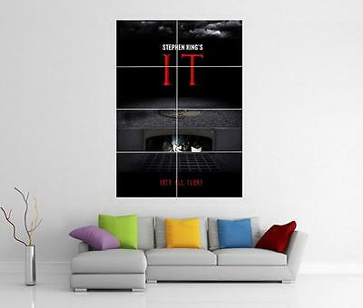 It Movie 2017 Stephen King Pennywise Giant Xl Wall Art Photo Pic Print Poster